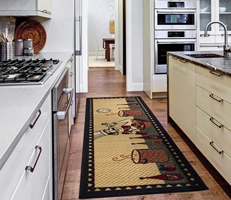 ihocon: Ottomanson Siesta Collection Kitchen Chef Design Runner Rug, 20 X 59吋 地毯