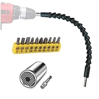ihocon: Flexible Drill Bit Extension and Universal Socket Wrench Tool Set, 105° Right Angle 電動螺絲刀配件