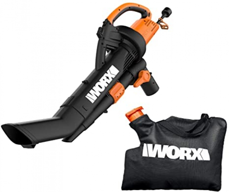 ihocon: WORX WG509 12 Amp TRIVAC 3-in-1 Electric Leaf Blower with All Metal Mulching System  三合一電動吹葉機