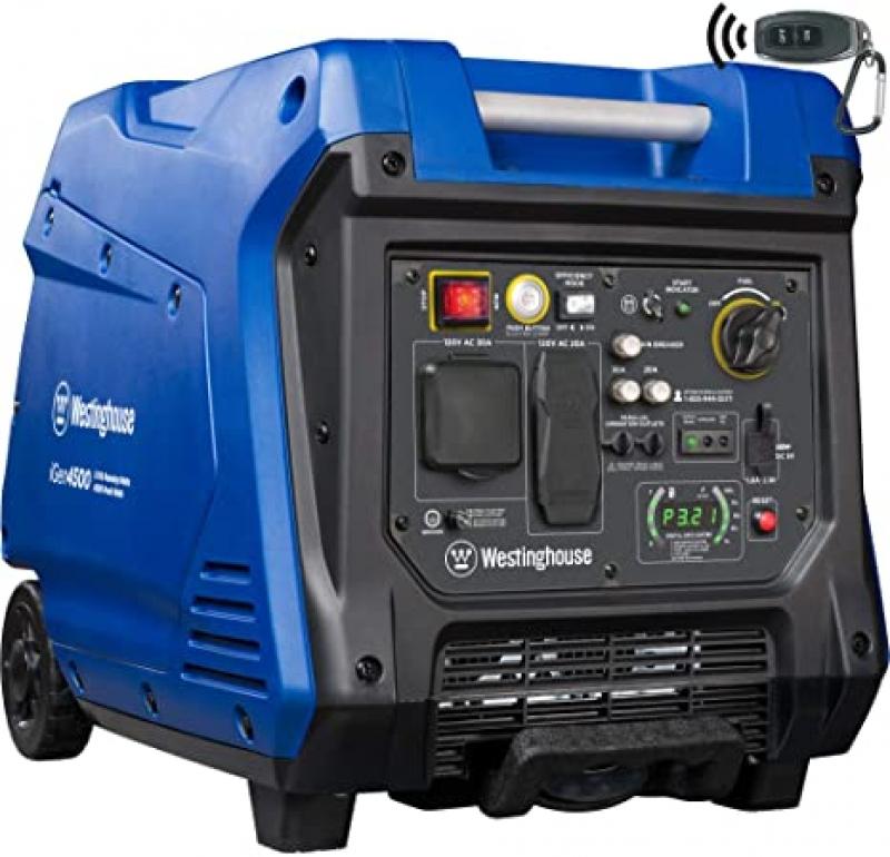 ihocon: Westinghouse iGen4500 Super Quiet Portable Inverter Generator 3700 Rated & 4500 Peak Watts, Gas Powered, Electric Start, RV Ready, CARB Compliant 西屋超靜音發電機