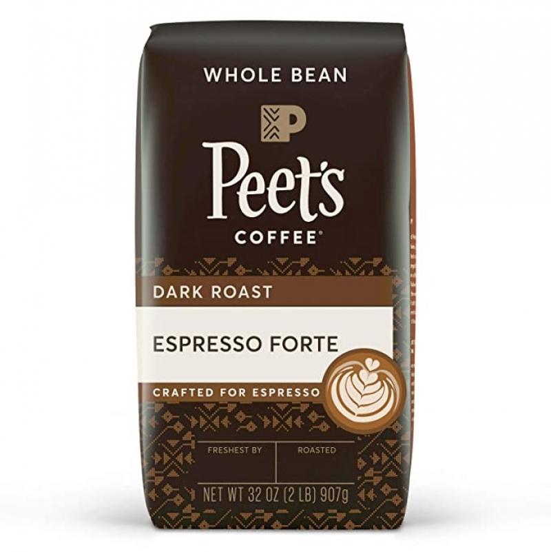 ihocon: Peet's Coffee Espresso Forte, Dark Espresso Roast Whole Bean Coffee, 32 oz 咖啡豆