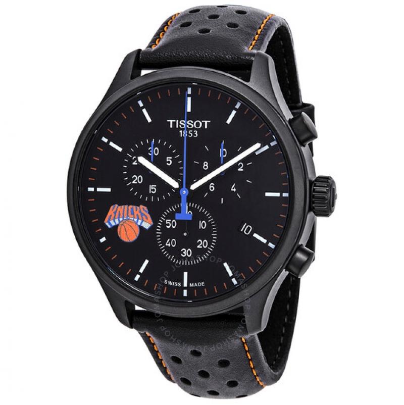 ihocon: Tissot NBA Teams Special New York Knicks Chronograph Black Dial Men's Watch T116.617.36.051.05 天梭紐約尼克隊特別版男錶