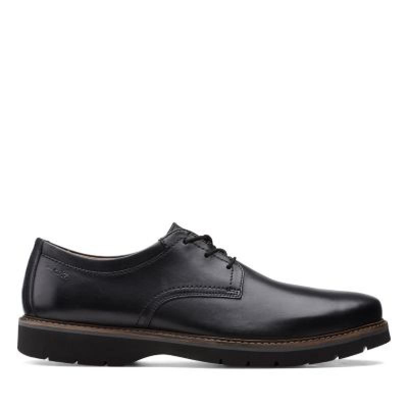 ihocon: Clarks Bayhill PlainBlack Leather 男鞋