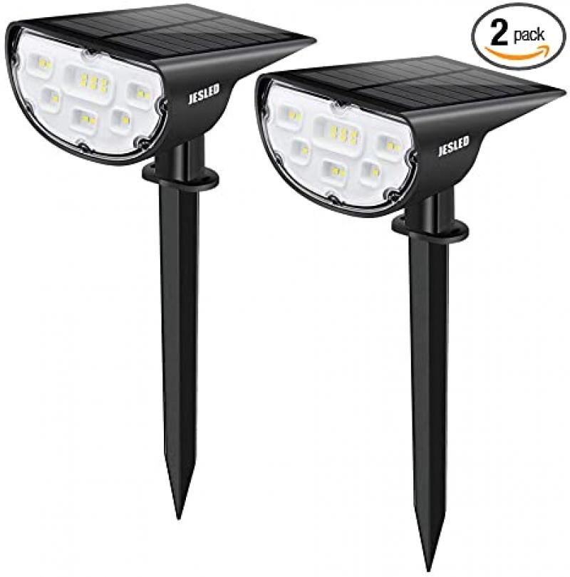 ihocon: JESLED Solar Landscape Spot Lights,2-Pack  太陽能庭園燈