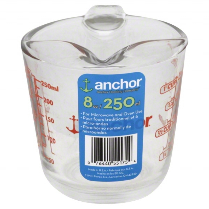 ihocon: Anchor Hocking Glass Measuring Cup, 1 cup (8oz)玻璃量杯