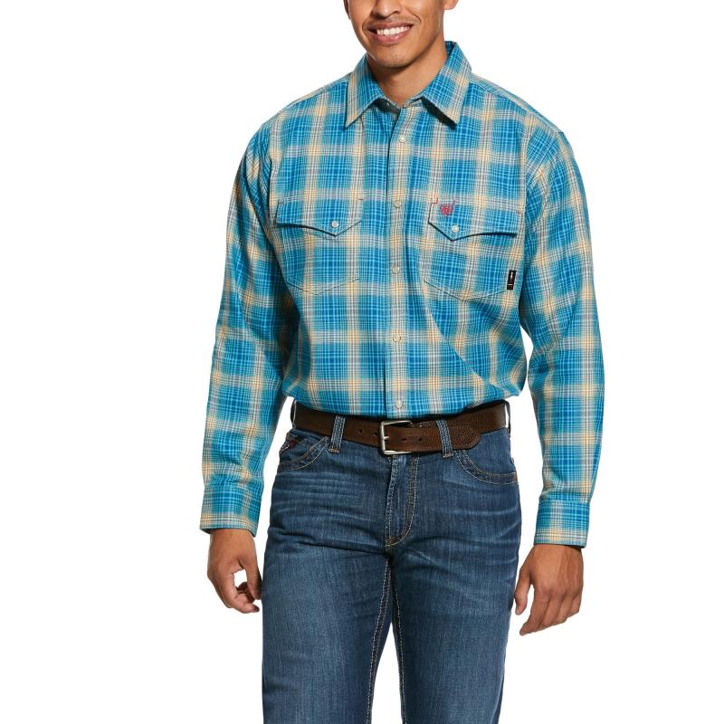 ihocon: FR Sanders Classic Fit Snap Work Shirt 男士長袖襯衫