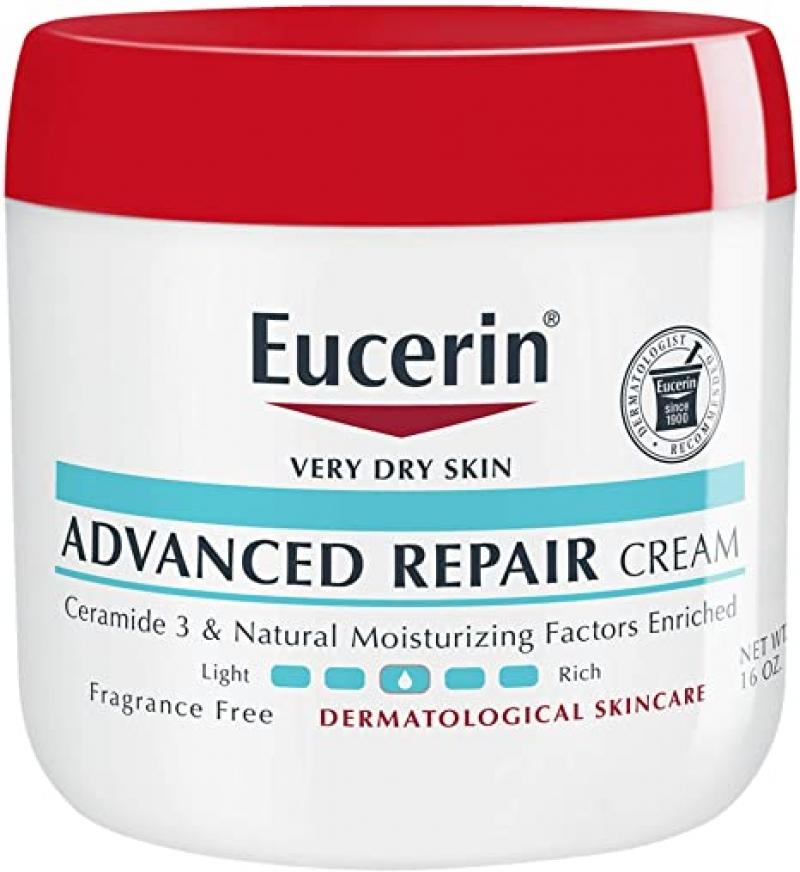 ihocon: Eucerin Advanced Repair Cream, Fragrance Free, Full Body Lotion, 16 oz  修護霜