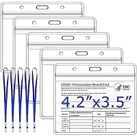 ihocon: Virgin Forest 5 Pack CDC Vaccination Card Protector 4.2 X 3.5 in 疫苗卡保護套 5個