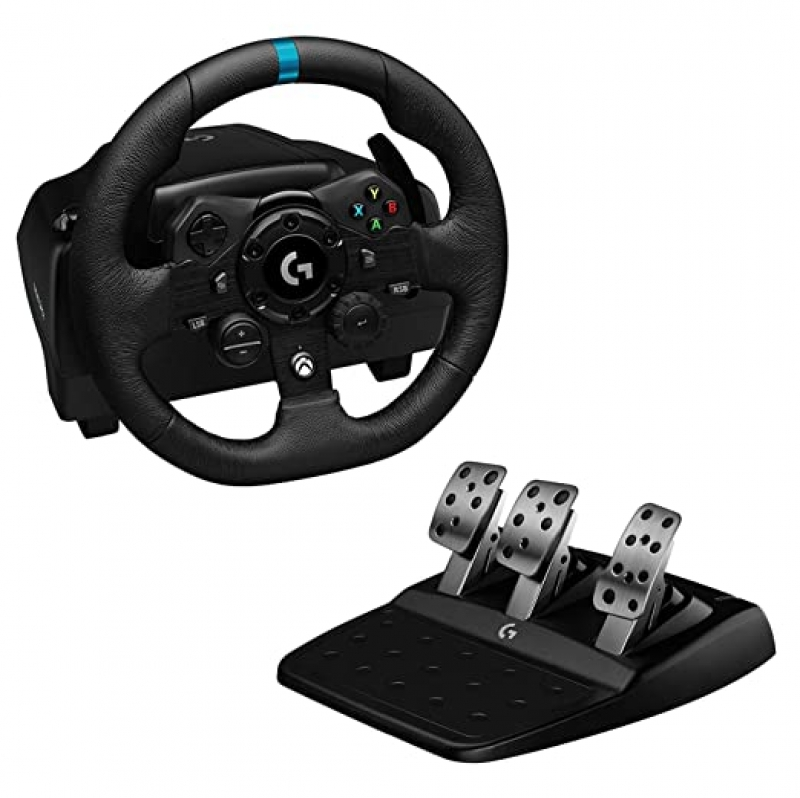ihocon: Logitech G923 Racing Wheel and Pedals for Xbox X S, Xbox One and PC 模擬賽車方向盤
