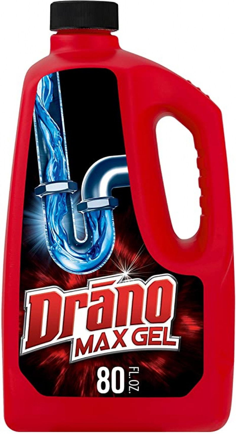 ihocon: Drano Max Gel Drain Clog Remover and Cleaner for Shower or Sink Drains, 80 oz   排水疏通劑