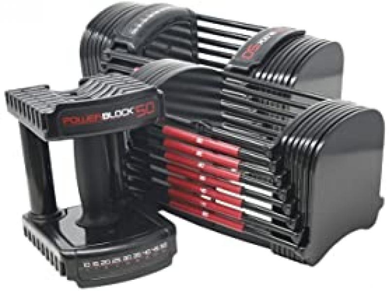 ihocon: PowerBlock 50 lb Adjustable Dumbbell Set 可調式啞鈴組
