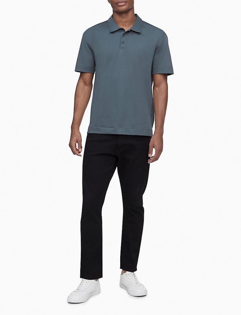 ihocon: Boxy Fit Solid Polo Shirt 男士Polo衫