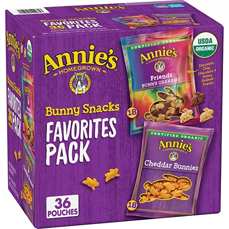 Annie's 有機小餅乾 1oz 36包 $8.91(原價$11.88)