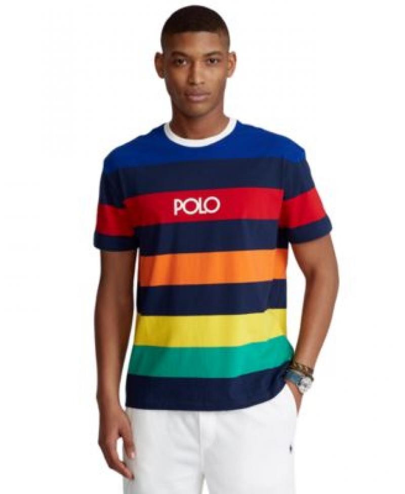 ihocon: Polo Ralph Lauren Men's Classic-Fit Striped Jersey T-Shirt男士POLO衫
