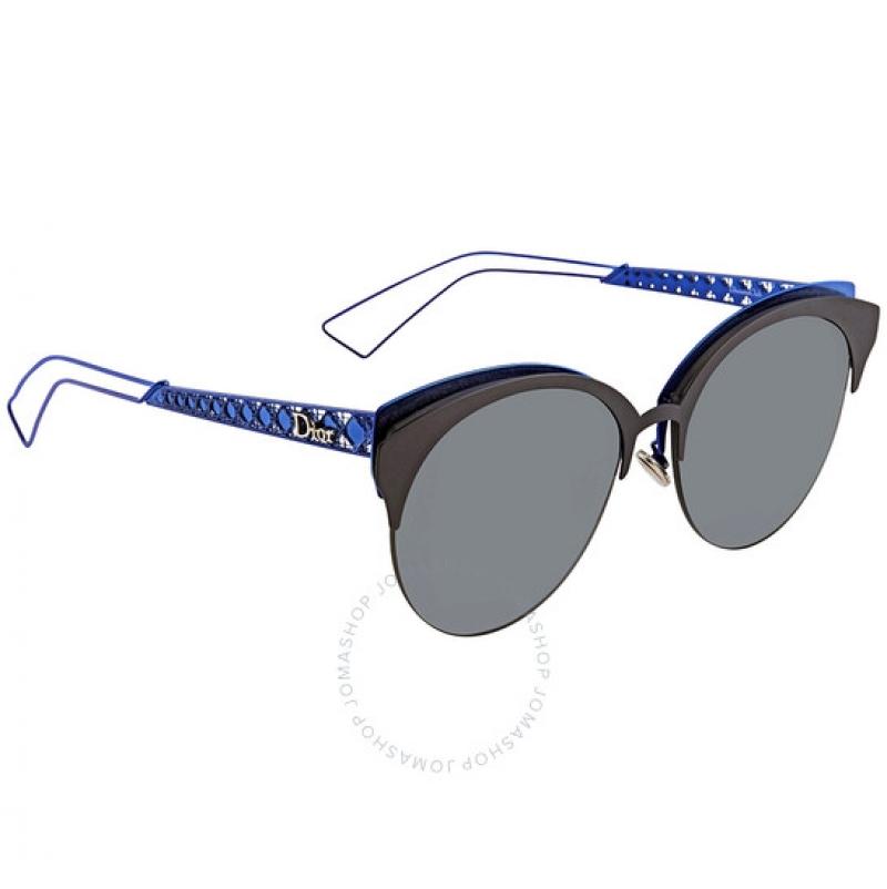 ihocon: Dior Diorama Club Gray Oval Men's Sunglasses DIORAMACLUB G5V5/K 55 男士太陽眼鏡  55/ 55