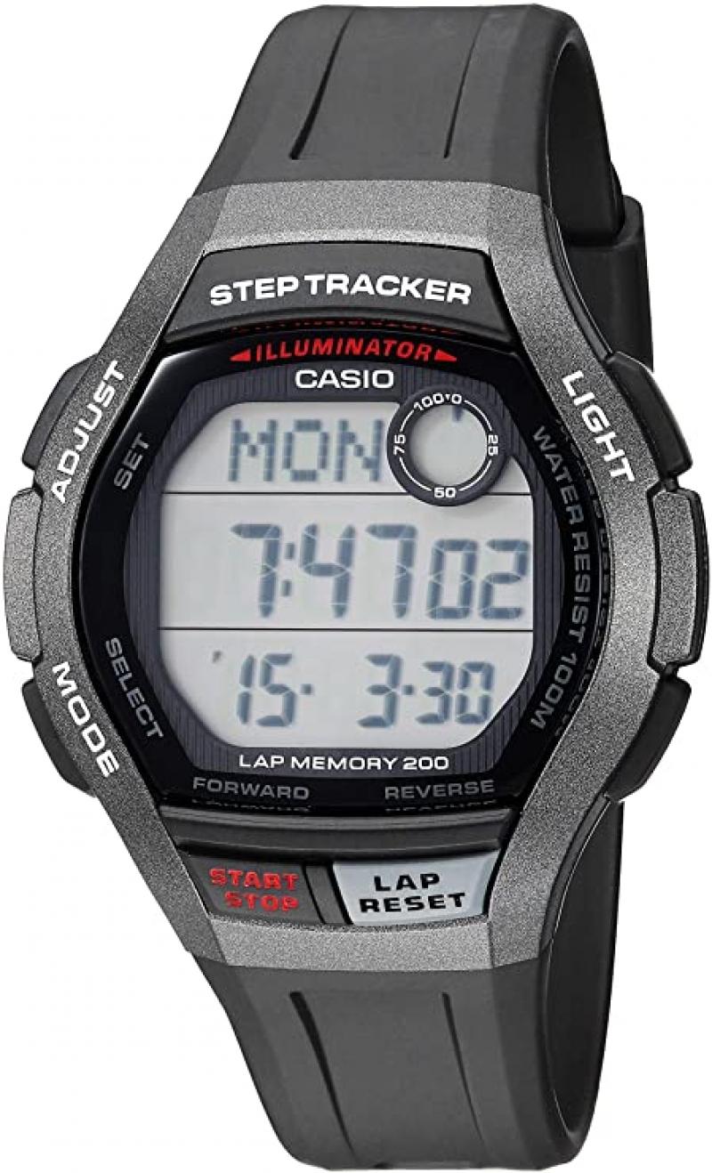 ihocon: Casio Men's Step Tracker Sport Watch 卡西歐計步男錶