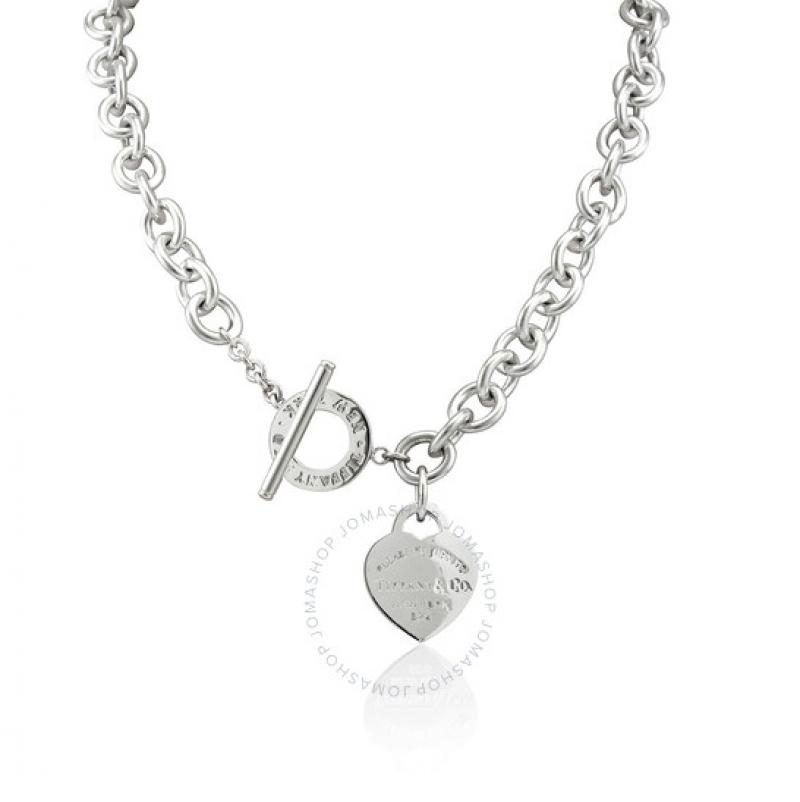 ihocon: Tiffany & Co. Heart Tag Toggle Necklace 心形項鍊