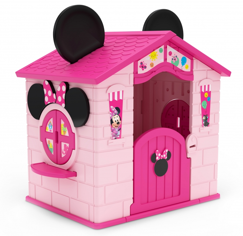 ihocon: Disney Minnie Mouse Plastic Indoor/Outdoor Playhouse with Easy Assembly by Delta Children 迪士尼米妮遊戲屋