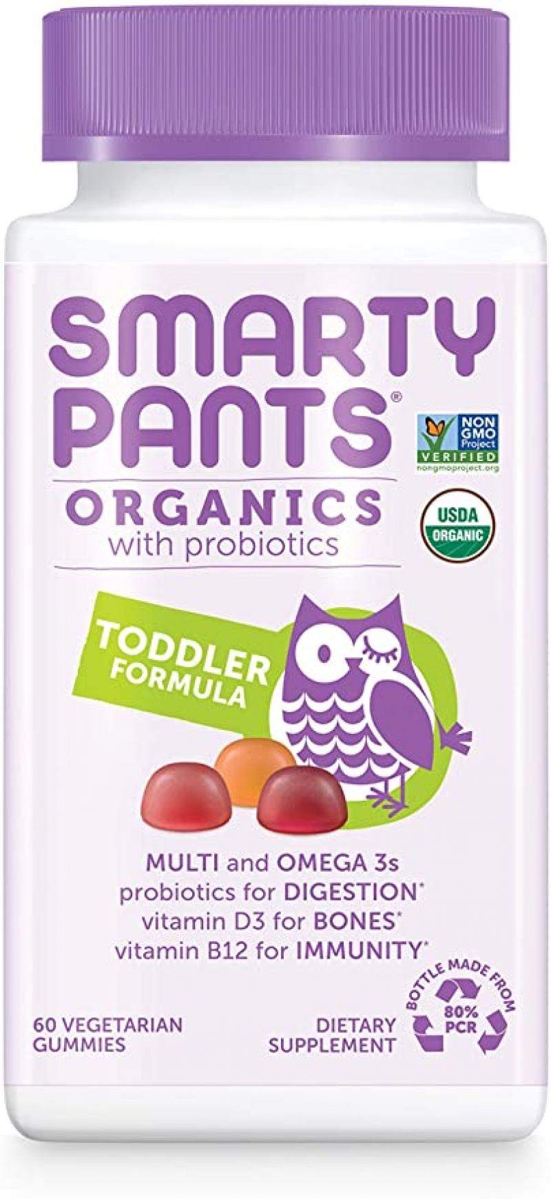 ihocon: SmartyPants Organic Toddler Multivitamin, 60 Gummies, 30 Day Supply  有機幼兒綜合維他命軟糖