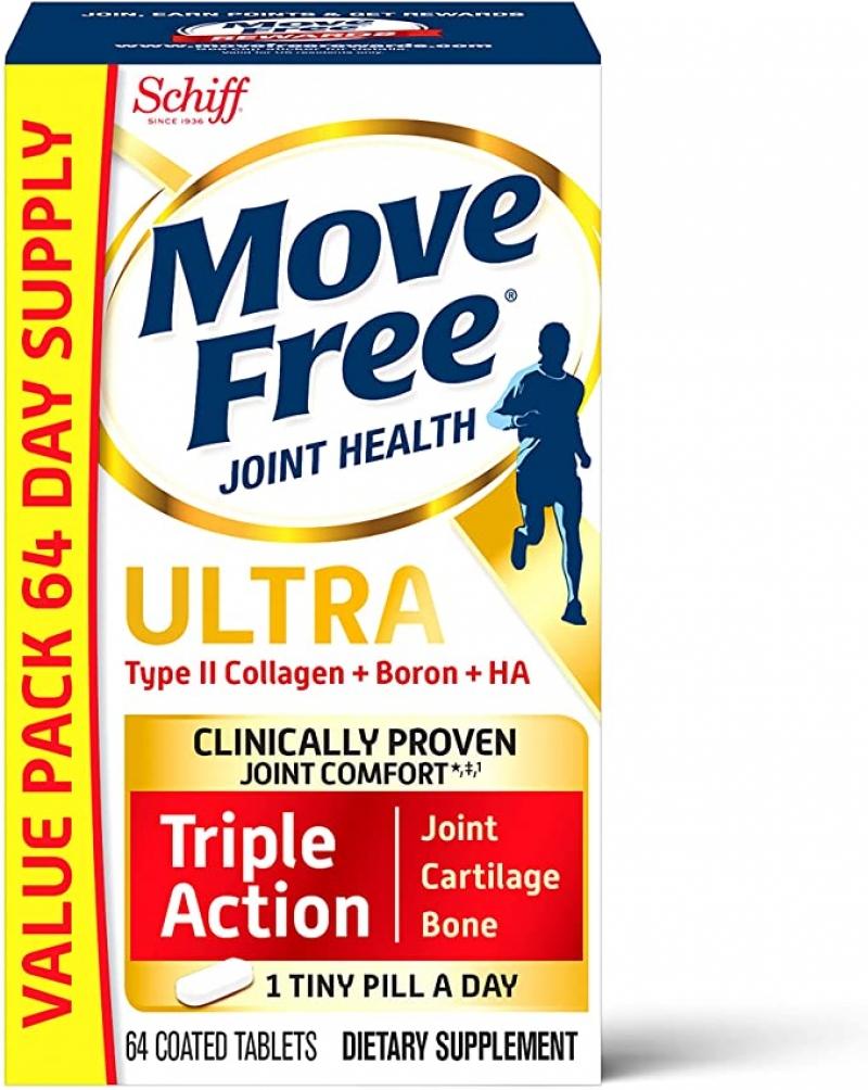 ihocon: [闗節保養] Move Free Type II Collagen + Boron + HA (64 Count)
