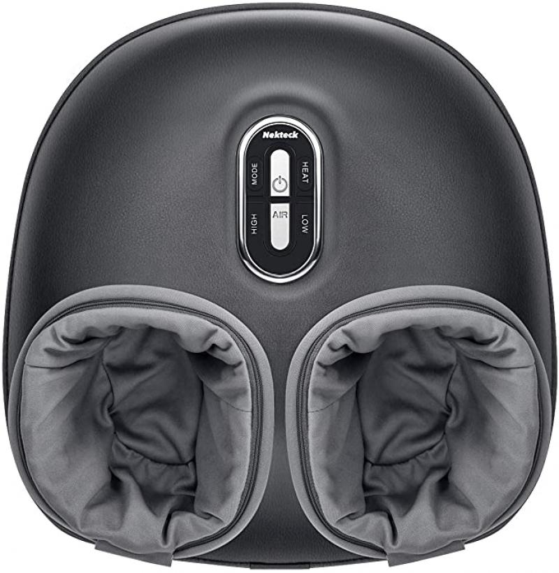 ihocon: Nekteck Shiatsu Foot Massager Machine with Soothing Heat, Deep Kneading Therapy, Air Compression 加熱足部按摩機