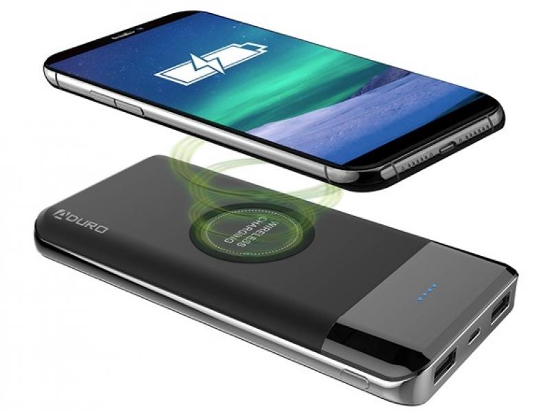 ihocon: Aduro 10,000mAh Qi-Certified Wireless Power Bank with Dual USB Charging Ports 行動電源/充電寶