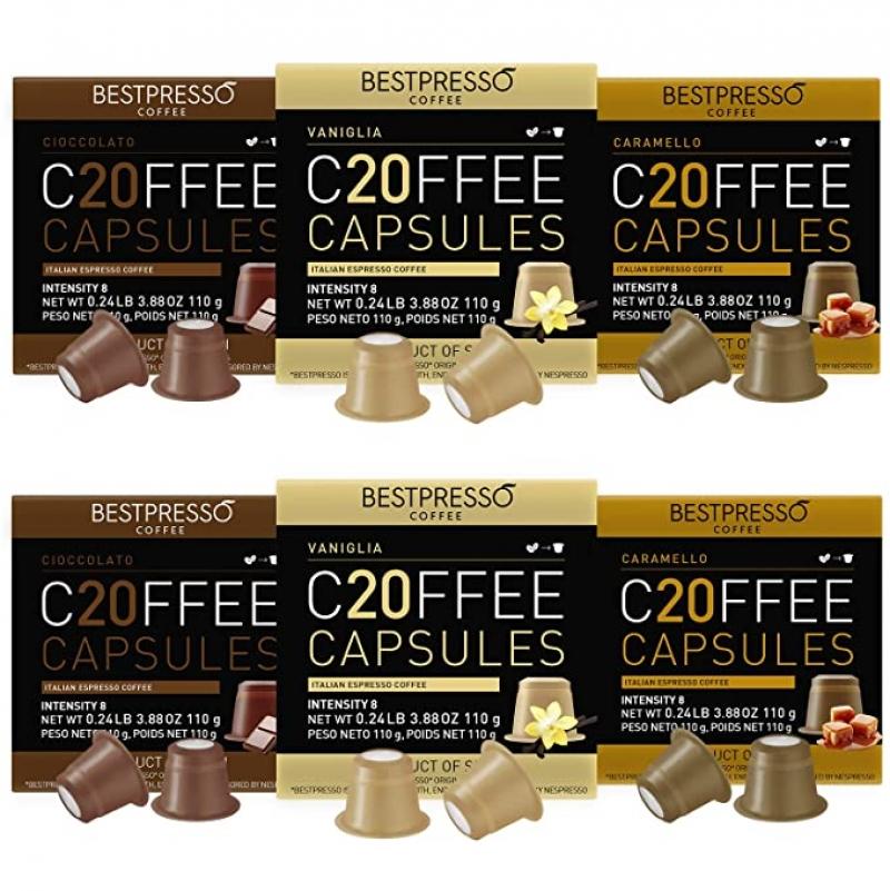 ihocon: Bestpresso Coffee for Nespresso Original Machine 120 pods 咖啡膠囊