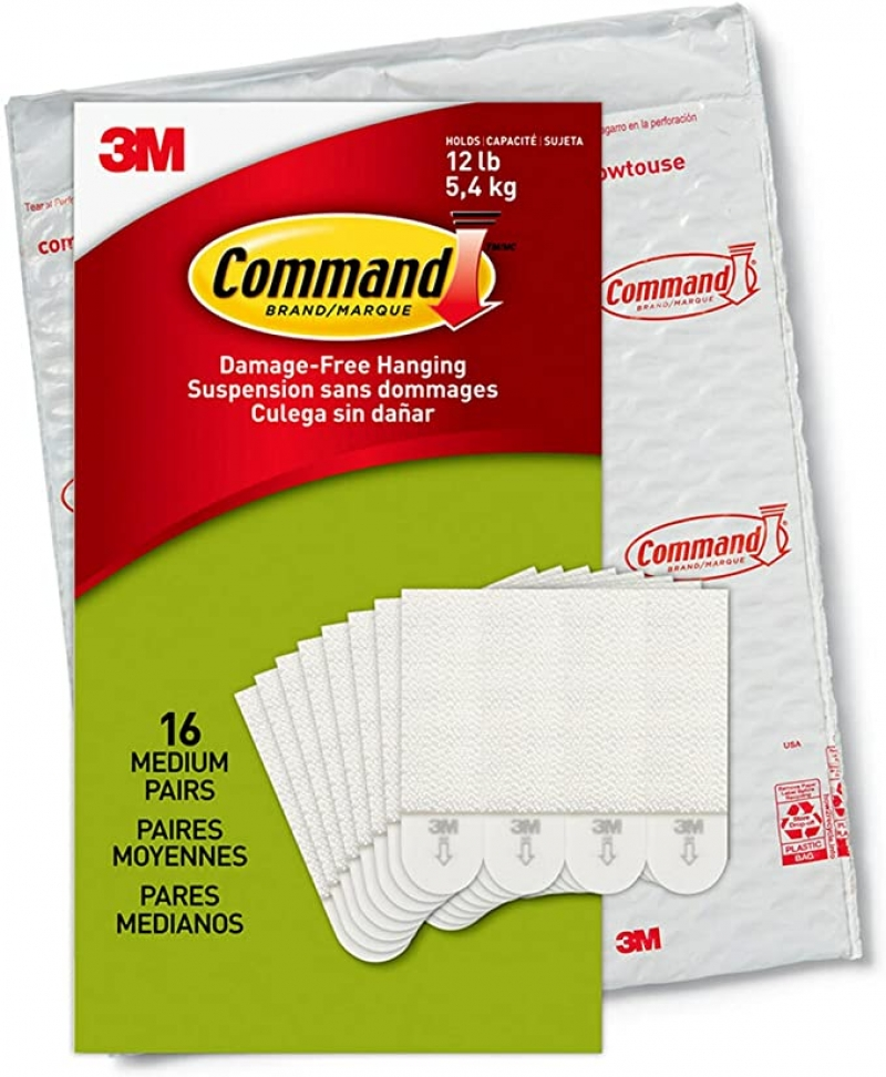 ihocon: 3M Command PH204-16NA, Holds up to 12 lbs, 16 pairs (32, Indoor Use Picture Hanging Strips) 相片/ 畫框 雙面貼條