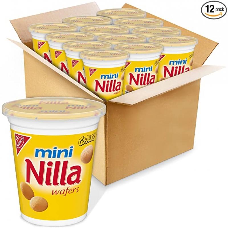 ihocon: Nilla Wafers Mini Vanilla Wafer Cookies, 12 - 2.25 oz Go-Paks  迷你香草口味餅乾