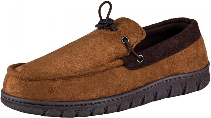 ihocon: Dickies Men's Moccasin Slipper Venetian House Shoe With Indoor Outdoor Memory Foam Sole  男士記憶棉鞋底室內鞋