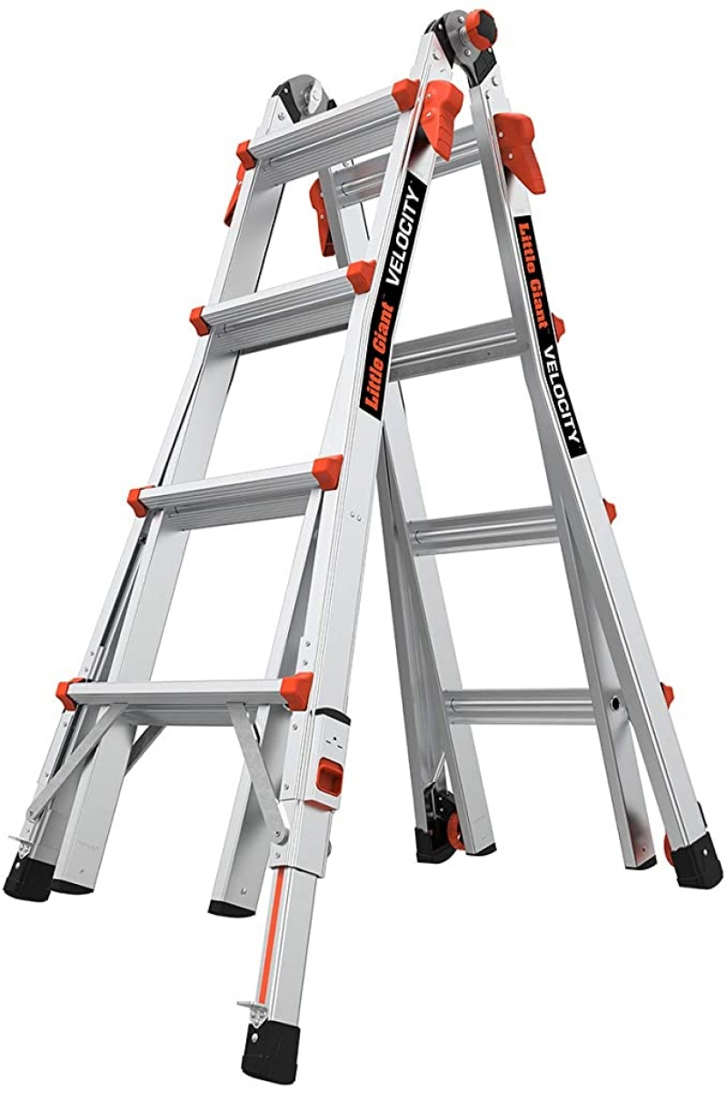 ihocon: Little Giant Ladders, Velocity with Wheels, M17, 17 Ft, Multi-Position Ladder, 300 lbs weight rating 伸縮梯