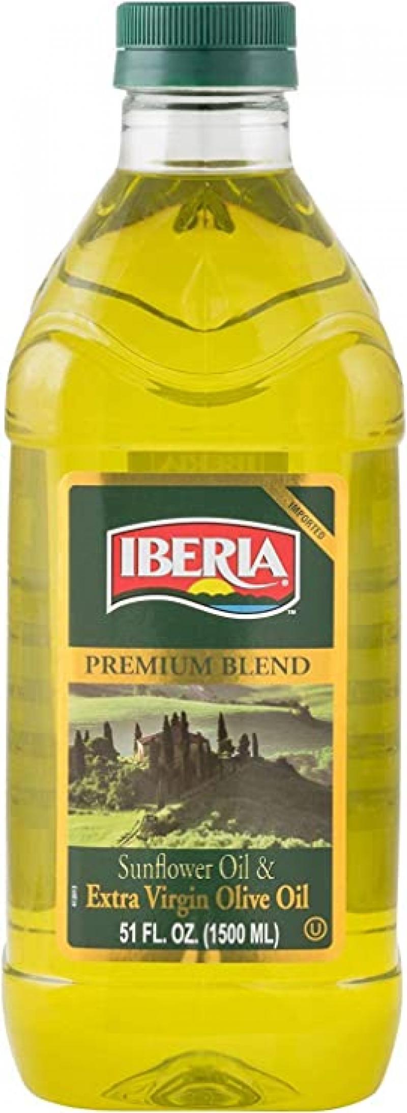 ihocon: Iberia Extra Virgin Olive Oil & Sunflower Oil Blend, 51 oz, High Heat Frying 特級初榨橄欖油及葵花籽油