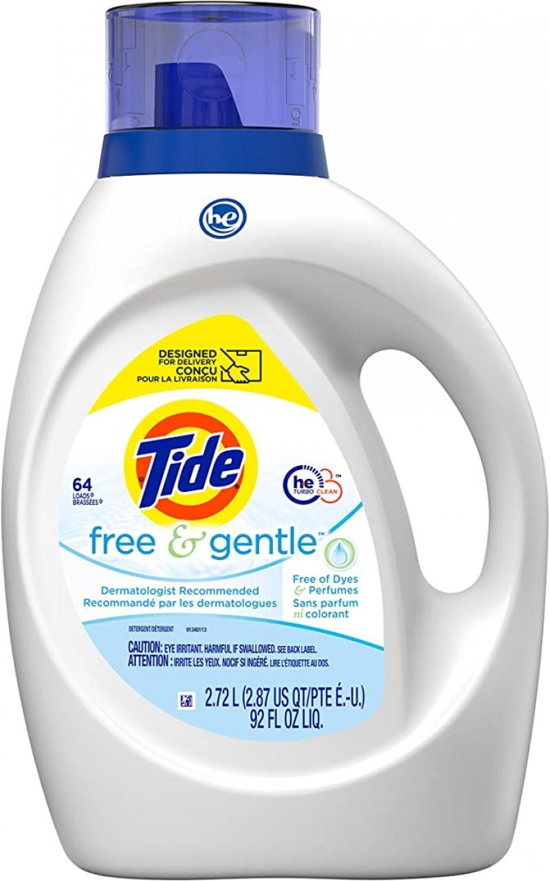 ihocon: Tide Free & Gentle Liquid Laundry Detergent, 64 loads 洗衣精