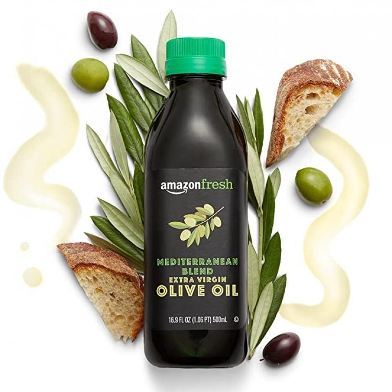 ihocon: AmazonFresh Mediterranean Extra Virgin Olive Oil, 16.9 fl oz (500mL)  特級初榨橄欖油