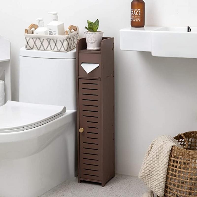 ihocon: TuoxinEM 31.5 Slim Bathroom Toilet Paper Storage Cabinet 廁所置物衛生紙櫃,