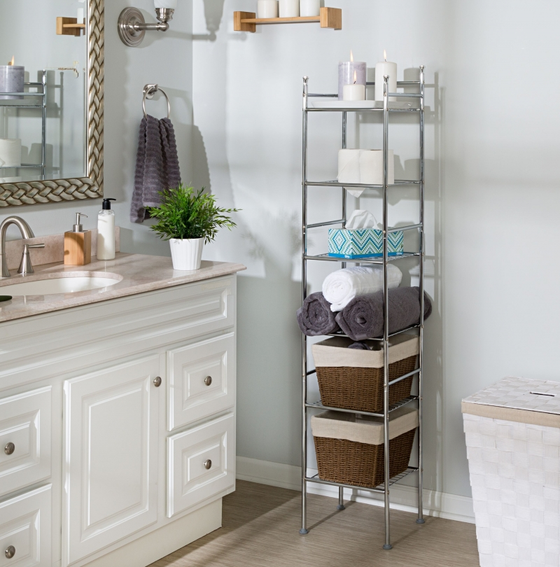 ihocon: Honey-Can-Do 6-Tier Bathroom Storage Shelving Unit 六層浴室置物架