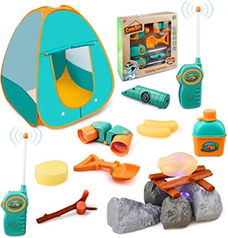 ihocon: GrowthPic Outdoor Toys Camping Tools with Tent 兒童遊戲帳及露營玩具