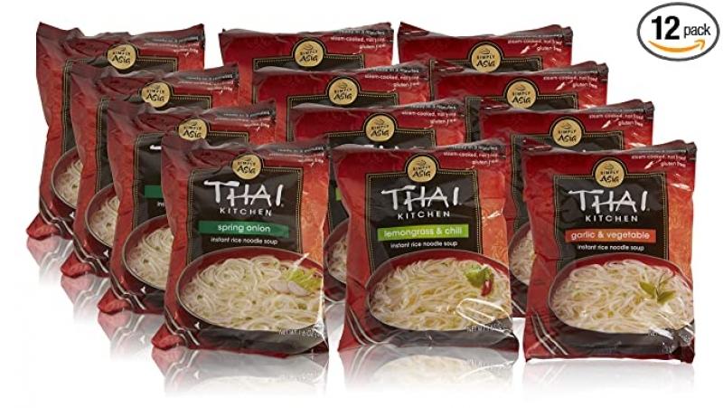 ihocon: Thai Kitchen Instant Rice Noodle Soup, 1.6oz (Pack of 12) 泰式泡麵