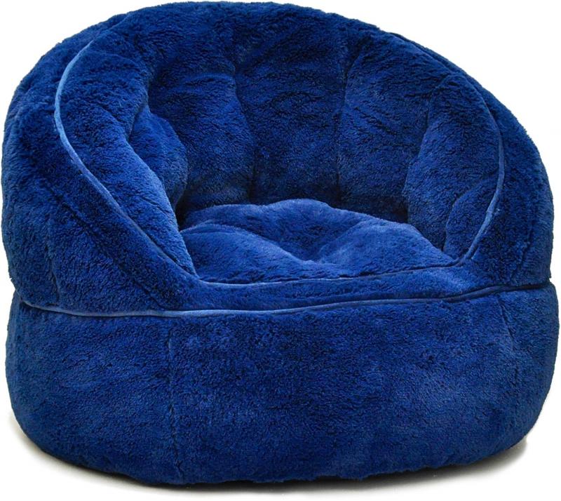 ihocon: Urban Shop Faux Fur Kids Size Bean Bag Chair 兒童椅-多色可選