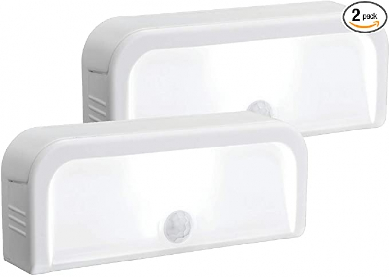 ihocon: Mr. Beams MB702 Wireless Motion-Sensing Mini Stick-Anywhere LED Nightlights, Small, White, 2-Pack  無線動作感應夜燈 2個 (使用電池)