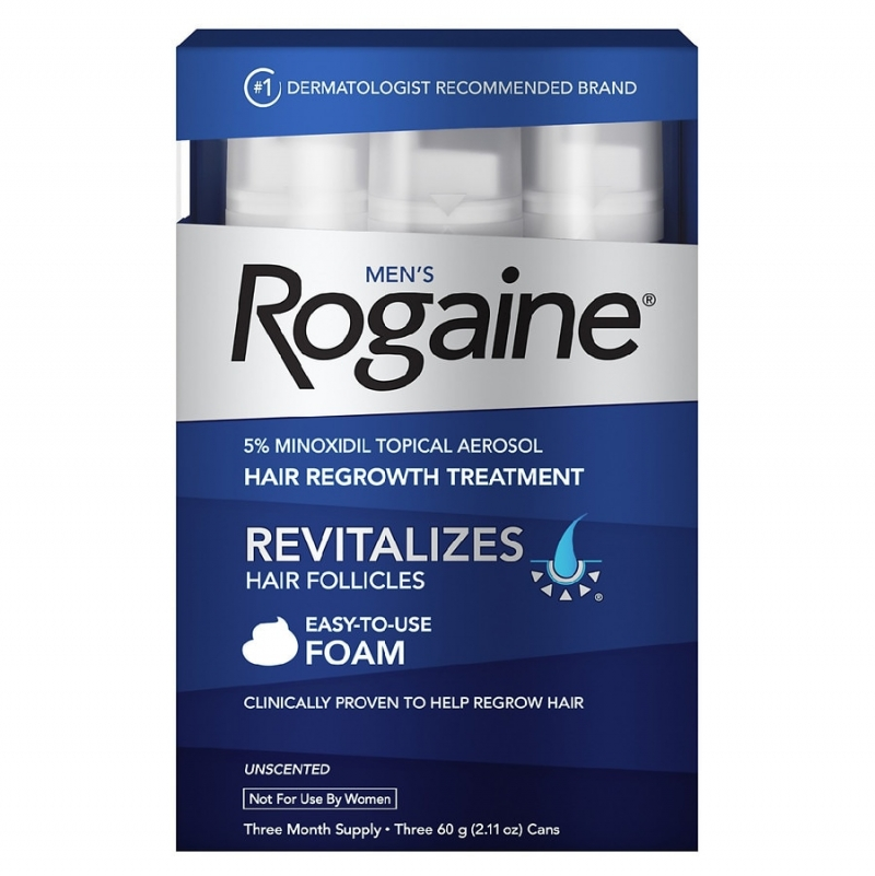 ihocon: Rogaine Men's Foam For Hair Regrowth Unscented 落建男士生髮泡沫, 3個月份