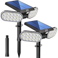 ihocon: ZATK Solar Landscape Spotlights 64 LED 太陽能庭園燈 2盞