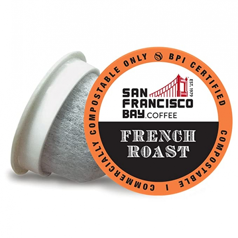 ihocon: SF Bay Coffee OneCUP French Roast 120 Ct Dark Roast Compostable Coffee Pods     咖啡膠囊