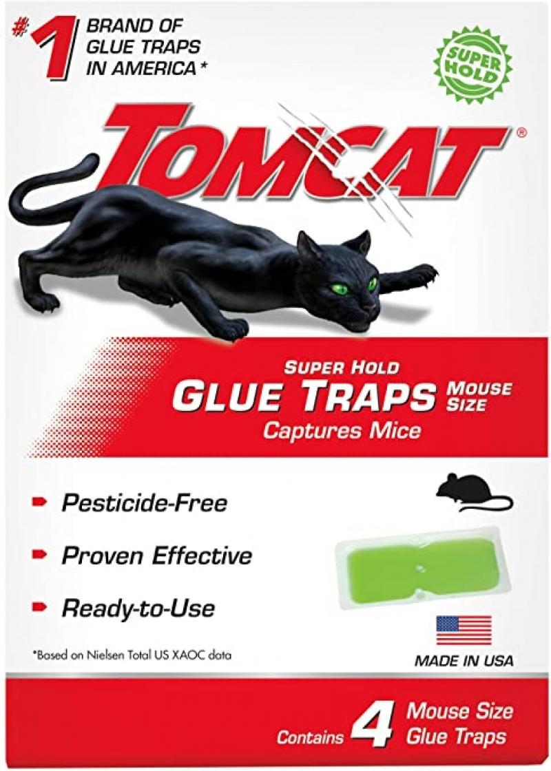 ihocon: Tomcat Super Hold Glue Traps Mouse Size, Contains 4 Mouse Size Glue Traps 黏老鼠紙 4張