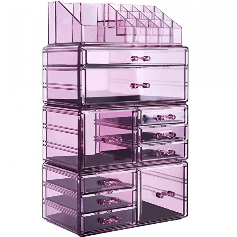 ihocon: InnSweet Makeup Organizer Large Cosmetic Storage Drawers and Jewelry Display Box  化妝品及手飾收納盒