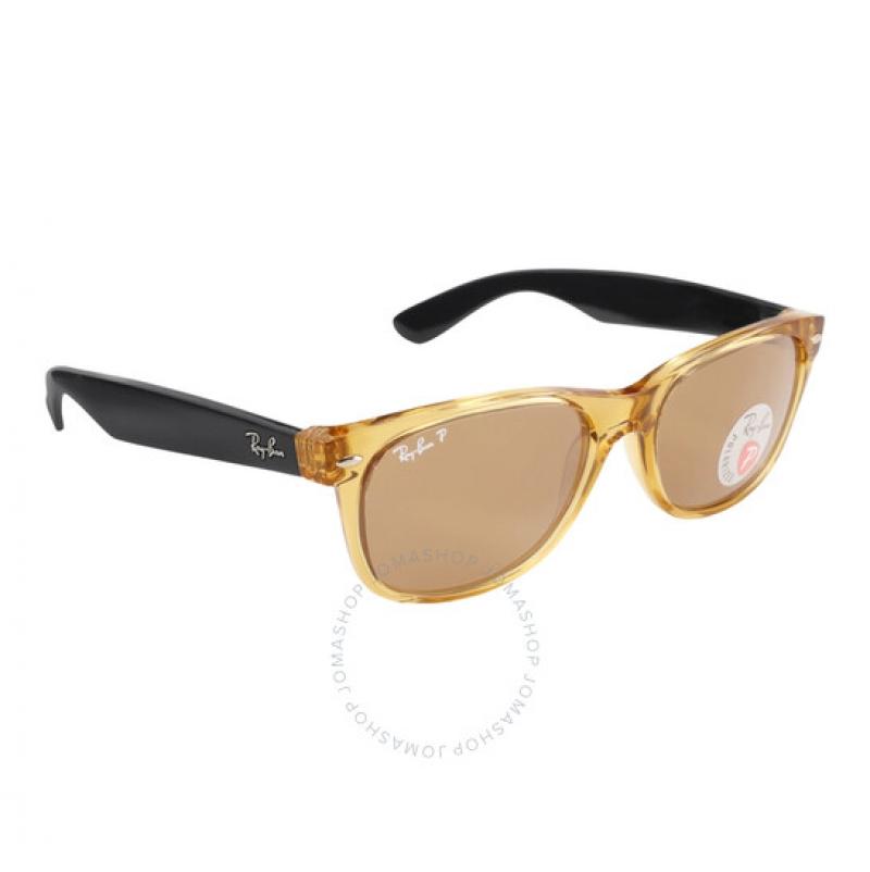ihocon: Ray-Ban New Wayfarer Polarized Brown Sunglasses RB2132 945/57 55-18 雷朋偏光太陽眼鏡
