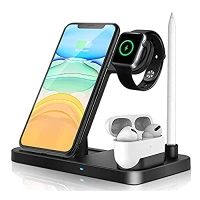ihocon: iKALULA Wireless Charger Dock 4 in 1 Fast Charging Station 手機/手錶/耳機/觸控筆 4合1 無線快速充電站