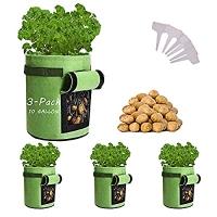 ihocon: Qaxlry Potato-Grow-Bags, 3 Pack 10 Gallon 馬鈴薯種植袋