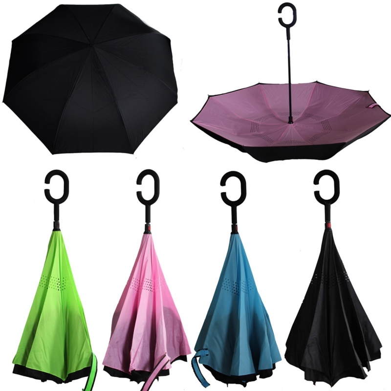 ihocon: Reversible Inverted UmbrellaReversible Inverted Umbrella 雙面反向傘-多色可選