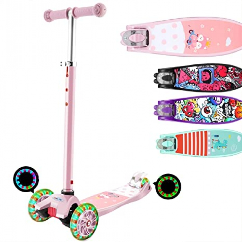 ihocon: Hikole Scooter for Kids with 3 LED Wheels  3輪滑板車
